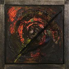 Veronika Matzner, Aktionskunstwerk, Collage (Acryl, Stahl, Glas)
