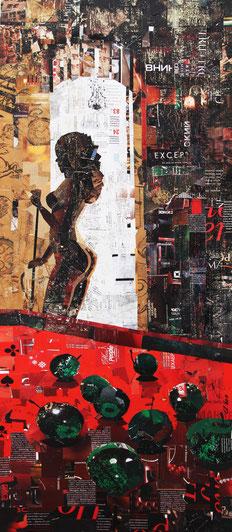 "Dehtiar Svetlana, ""Lilit"", Collage, 42  x 100 cm, 2012, gerahmt, 2.000 €"
