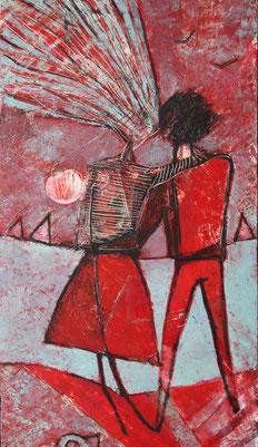 """Tarasenko Anna, """"Sea: Ufer"""", Öl auf Leinwand, 100 x 50 cm, 2012, gerahmt"""