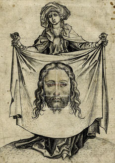 (12) Martin Schongauer, Saint Veronica Holding the Sudarium, c. 1470–82, woodcut, no. 1862,1011.203, British Museum / London