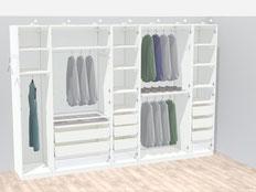 Kleiderschrankplanung mit Blick auf die Inneneinrichtung