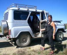 Les jeeps en Mongolie trop petite peu utile pour la logistique transport de voyageurs