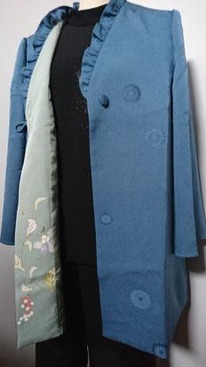着物2枚でインナーブラウス・パンツ・ジャケット