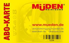 cleanboxone. Startseite, Müden Abokarte in gelb