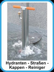 Kappenreiniger um Unterflurhydrantenkappen vor der Wasserentnahme zu reinigen