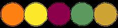 Paleta de colores para boda naranja, amarillo, gorgona, vino tinto verde y dorado