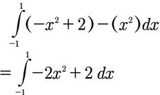 Rechenschritt zur Berechnung des Integrals mit Start und Endpunkt.