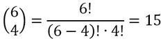 Beispiel für die Berechnung des Binomialkoeffizienten