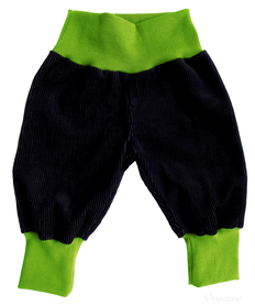 blau/grüne Pumphose für Kinder, faire Mode, Herzkind, Berlin