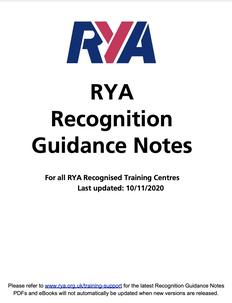 RYA training centre recognition guidance notes