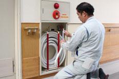 新潟の消防設備点検業者による消防設備点検の実施