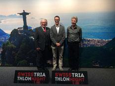 Die Präsidenten der Triathlonverbände von Österreich, Schweiz und Liechtenstein