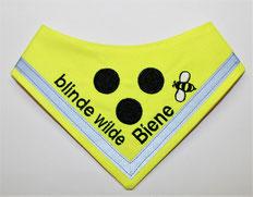 Blinden Logo, Halstuch für blinde Hunde, Blindenhalstuch, blind, neon