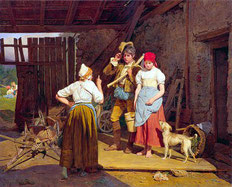"""""""Amonestación materna"""", Ferdinand Georg Waldmüller"""