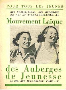 Plaquette de présentation du MLAF, l'un des mouvements ajistes d'après-guerre   en 1946