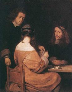 Герард Терборх. Игра в карты. 1560