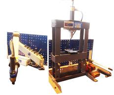 Bras taraudage + presse hydraulique