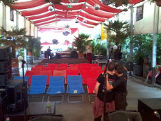 Open Air Stage at Free & Easy Festival, Munich, just before doors opened.