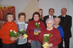 Die geehrten Damen des Seniorenkreises