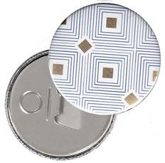 Flaschenöffner  Flaschenöffner-Rückseite mit Neodym-Magnet  59 mm ,Carré d´Or  mit Golddruck