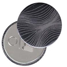 Flaschenöffner  Flaschenöffner-Rückseite mit Neodym-Magnet  59 mm  , Zwiebelmuster grau auf schwarz