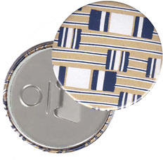 Flaschenöffner  Flaschenöffner-Rückseite mit Neodym-Magnet  59 mm  ,Dandy blue