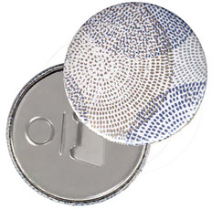 Flaschenöffner  Flaschenöffner-Rückseite mit Neodym-Magnet  59 mm ,Circulus mit Golddruck
