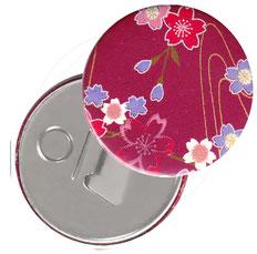 Flaschenöffner  Flaschenöffner-Rückseite mit Neodym-Magnet  59 mm  ,Blumenfeld pink rot rosa