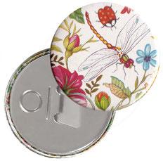 Flaschenöffner  Flaschenöffner-Rückseite mit Neodym-Magnet  59 mm  Florentiner Papier, Libelula