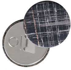 Flaschenöffner  Flaschenöffner-Rückseite mit Neodym-Magnet  59 mm  ,black gold silver