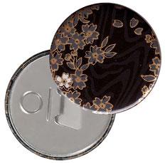 Flaschenöffner  Flaschenöffner-Rückseite mit Neodym-Magnet  59 mm  ,   Koyota schwarz gold