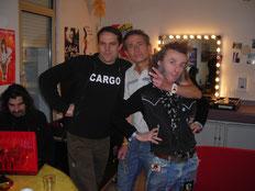Didier Wampas (au centre) en compagnie de  Stephane Veron (a gauche)