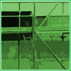 DemL Bau Gerüst Verleih Vermietung Baustelle Ausbau Außenwand Außenausbau Haus Dach