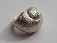 außergewöhnlicher Silberring handgefertigt vom Goldschmied