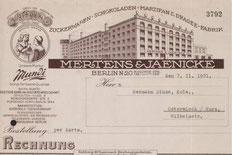 Briefkopf von Mertens & Jaenicke