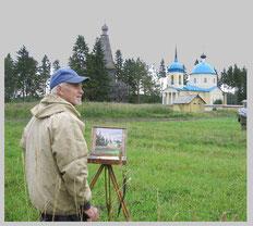 Г.А. Кулишов на этюдах (G. A. Kulishov  making  a  sketch), 2008