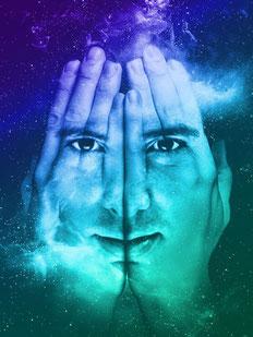 Geistheiler Jesus Lopez, Hände, Gesicht, Universum