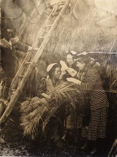 新聞にも使われている写真(友人の両親とヘレン・ケラー、トムソン女史)