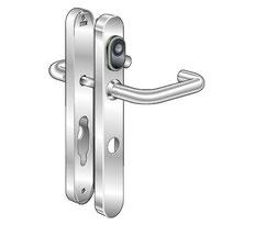 Die absolut schlossunabhängige Beschlaglösung Kaba c-lever kann nachträglich ohne jede Kabelverlegung problemlos an jeder Tür eingesetzt werden.