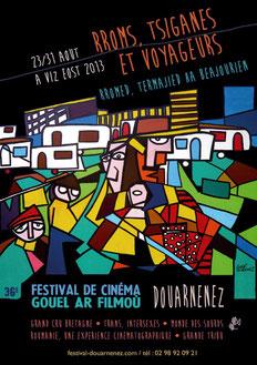 Affiche du Festival réalisée par Zarmine d'après une peinture de Gaby Gimenez