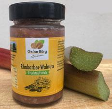 Rhabarber-Walnuss Fruchtaufstrich