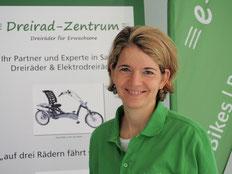 Physiotherapeutin Anika Schink im Dreirad-Zentrum Frankfurt