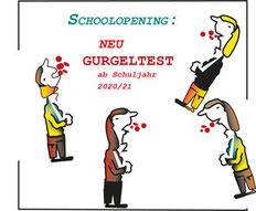 Das Auffälligste bei der Fassmann-Präsentation der Herbstpläne war die Kinder-Gurgelshow.  Bild:spagra