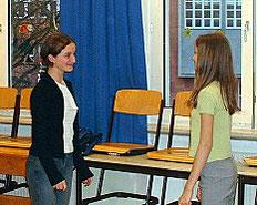 Wer ist der Spiegel? Ana oder Luiza?
