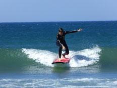 Holger das erste Mal auf dem Surfbrett
