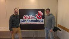 Kai Rixen und Milan Scepanik engagieren sich auf Vereins- und Verbandsebene für den Kinderschutz