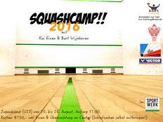 Ausschreibung zum Squashcamp 2016