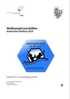 Kreisturnfest Dintikon, Turnfest 2018, zäme gwönne!, Turnfest Aargau