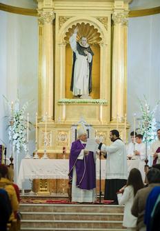 Misa del Centenario presidida por el Obispo.