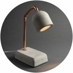 Betonlampe, Beton Nachttischlampe
